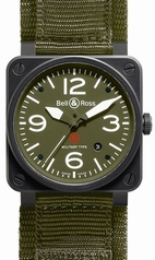 Bell & Ross BR03 BR-03-92-BLK-CARORG-SR Ladies Watch