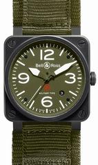 Bell & Ross BR03 BR-03-92-BLK-CARORG-SR Ladies Watch