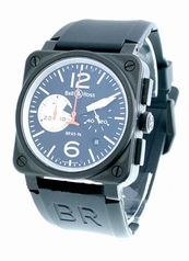 Bell & Ross BR03 BR-03-94-BKSL-CAR Mens Watch