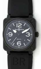 Bell & Ross BR03 BR03-92 CARBON Mens Watch