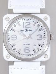 Bell & Ross BR03 BR03-92 WHITE CERAMIC Automatic Watch