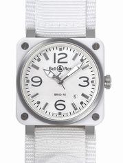 Bell & Ross BR03 BR03-92 WHITE CERAMIC Mens Watch