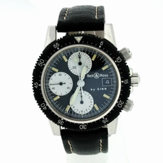 Bell & Ross Classic Pilot Chronograph Mens Watch
