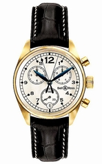Bell & Ross Vintage 120 Gold White Mens Watch