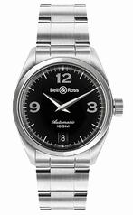 Bell & Ross Vintage Medium Auto Black Mens Watch