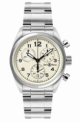 Bell & Ross Vintage Medium Chrono Beige Mens Watch