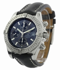 Breitling Chronomat A13356 Black Band Watch