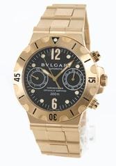 Bvlgari Diagono SC38GG Mens Watch