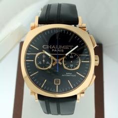 Chaumet Sport Chronograph Chrono Oro Rosa Mens Watch