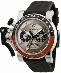 Graham Chronofighter Oversize Big Date GMT 2OVASGMT.S01A.K10B Mens Watch