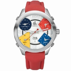 Jacob & Co. Five Time Zone - Large JC-1 Silver Dial Watch