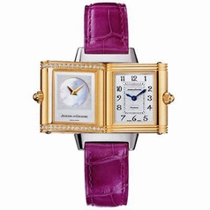 Jaeger LeCoultre Reverso - Ladies Duetto Leather Band Watch