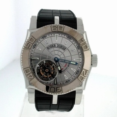 Roger Dubuis Easy Diver Tourbillon Silver Dial Watch
