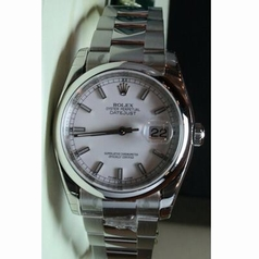 Rolex Datejust Men's 116200 Stainless Steel Bezel Watch
