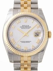Rolex Datejust Men's 116233 White Gold Case Watch