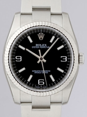 Rolex Oyster Date 116034 Black Dial Watch