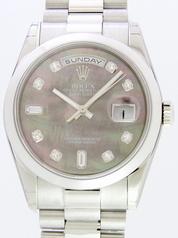 Rolex President Men's 118206 Black Dial Watch