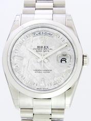 Rolex President Men's 118206 Grey Dial Watch