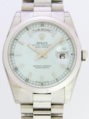 Rolex President Men's 118206 Silver Band Watch