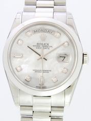 Rolex President Men's 118206 White Dial Watch
