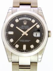 Rolex President Men's 118209 Gold Band Watch