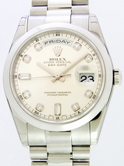 Rolex President Men's 118209 Silver Band Watch