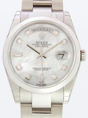 Rolex President Men's 118209 White Dial Watch