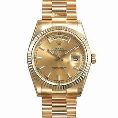 Rolex President Men's 118235 Pink Dial Watch