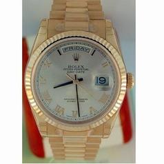Rolex President Men's 118235 Rose Band Watch