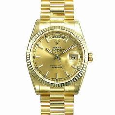 Rolex President Men's 118238 Gold Dial Watch
