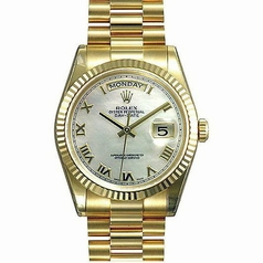 Rolex President Men's 118238 White Dial Watch