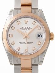 Rolex President Midsize 178241 White Dial Watch
