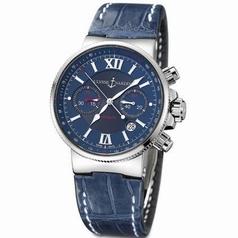 Ulysse Nardin Marine Chronograph 353-66/323 Mens Watch