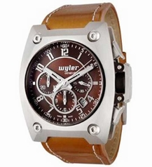 Wyler Geneve Code R 100.4.00.CH1.LBR Mens Watch