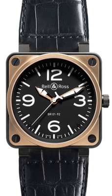 Bell & Ross BR01 BR 01-92 Black Dial Watch