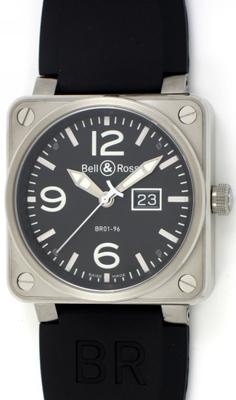 Bell & Ross BR01 BR01-96-S Mens Watch