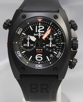 Bell & Ross BR02 BR02-94CHRONOGRAPH CFB Mens Watch
