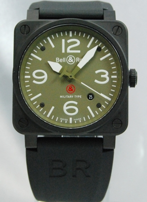 Bell & Ross BR03 BR03-92 MILITARY Mens Watch