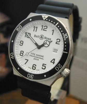 Bell & Ross Professional TYPE DEMINEUR White Dial Watch