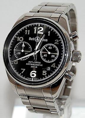 Bell & Ross Vintage 126 Geneva Black Mens Watch