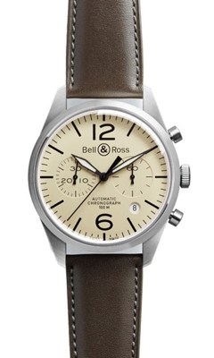 Bell & Ross Vintage BR 126 Brown Mens Watch