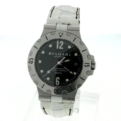 Bvlgari Diagono SD38 S Black Dial Watch