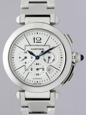 Cartier Pasha W31085M7 White Band Watch