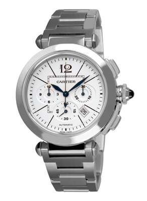 Cartier Pasha W31085M7 White Dial Watch