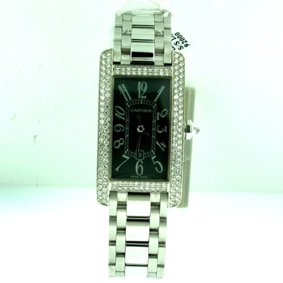 Cartier Tank Americaine WB7045L1 Grey Dial Watch