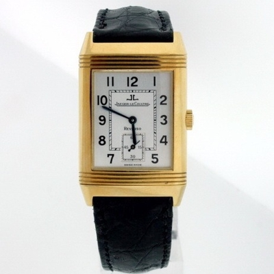 Jaeger LeCoultre Reverso - Men's Duetto Silver Dial Watch