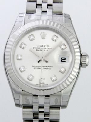 Rolex Datejust Ladies 179174 White Dial Watch