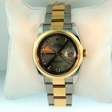 Rolex Datejust Men's 116233 Grey Dial Watch