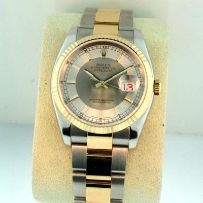 Rolex Datejust Men's 116233 Yellow Band Watch