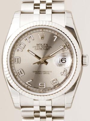 Rolex Datejust Men's 116234 Silver Dial Watch